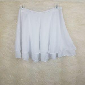 Anthro silence + noise mini skirt white tiered 4